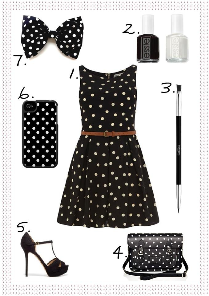 robe pois noire et blanche bettyconfidential com vernis noir