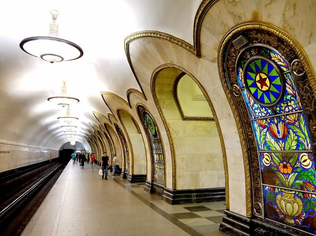 I love the Moscow Metro because it is a combination of art, history, and functionality.