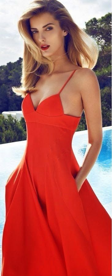 #fashion Red halter #dress @wachabuy