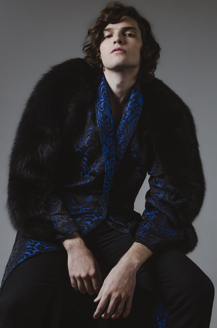 Way Management model Matheus Ferreira inspires in dandy fashions for his latest editorial. The curly haired model hits the studio with photographer Gianfranco Briceño, charming in attitude-fueled images. Donning brocade prints, fur and cravats, Matheus is quite the rich vision. Related