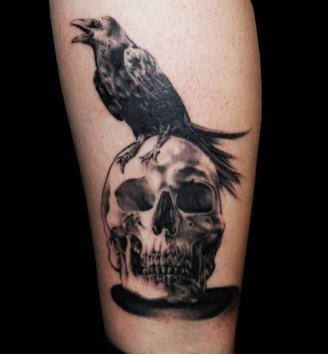 Black Crow Tattoo Designs and Ideas