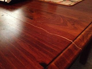 I'm pinning now to read later. Repairing cracks in a wooden table top.