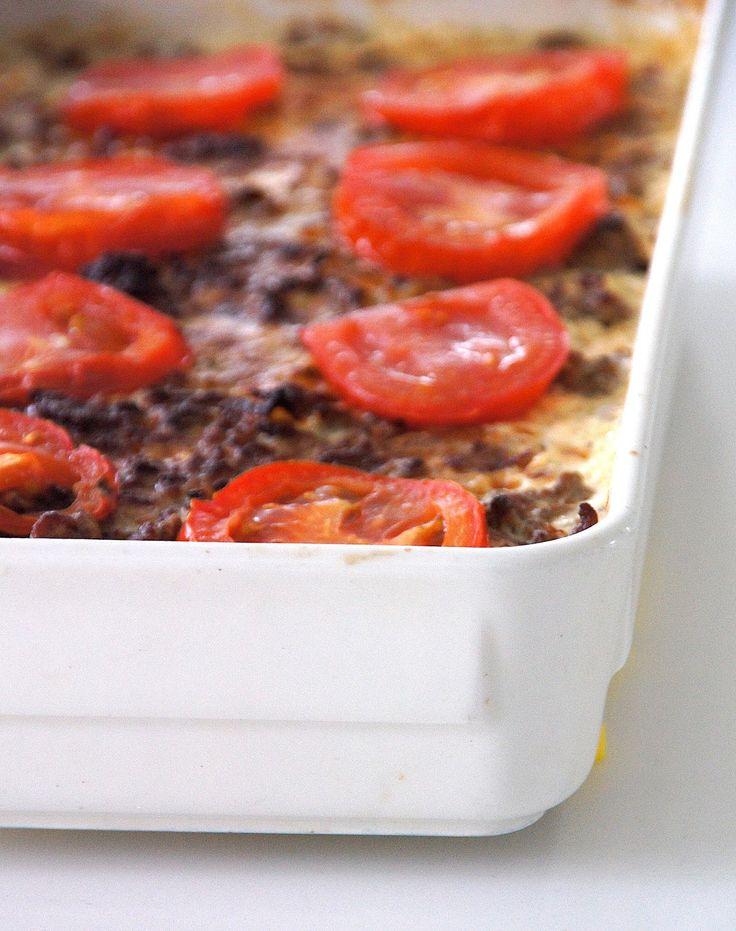 KOTONA: Kukkakaali-jauhelihagratiini - Hedelmiä