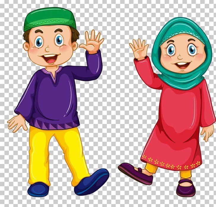 Muslim Islam Child Illustration Png Boy Cartoon Child Couple Couples Children Illustration Muslim Kids Cartoons Png