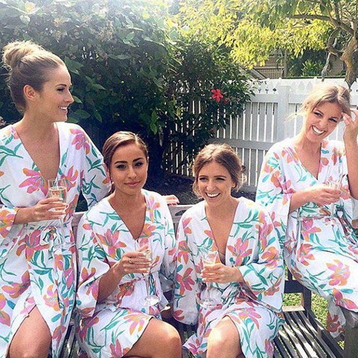 22.99 - Lilly Pullitzer Kate Spade Inspired Bridesmaid Robes, Bride Robe, Kimonos, cheap kimonos