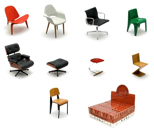 11 best Dollhouse Miniature REAC Designer Chairs images on