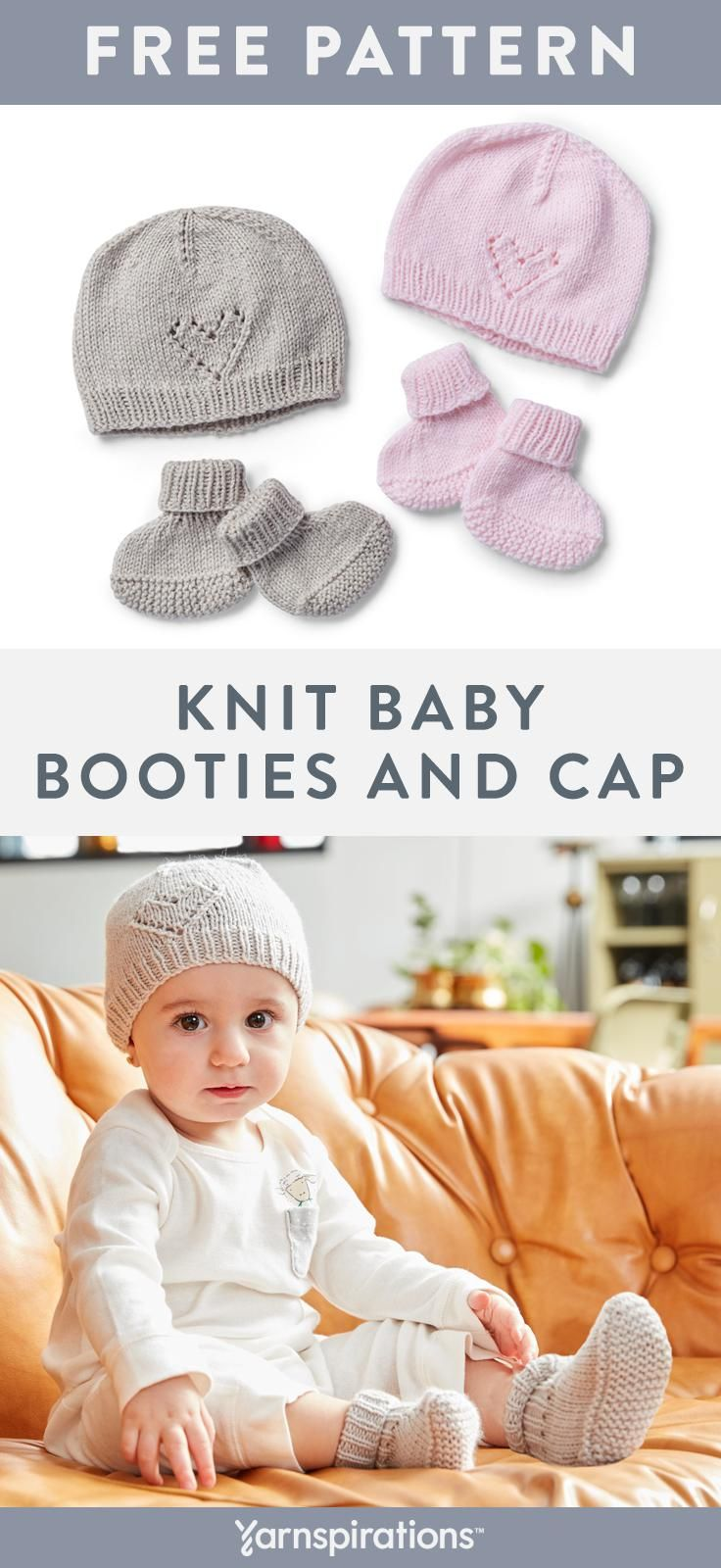 Free Easy Knit Baby Booties   Cap Pattern  6fd952aac01