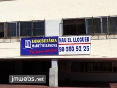Carteles para inmobiliarias en Lona Impresa, Polipropileno, Vinilos de Impresión en Barcelona. Medidas personalizadas y con diseño exclusivo. Precios en www.jmwebs.com - Teléfono: 935160047