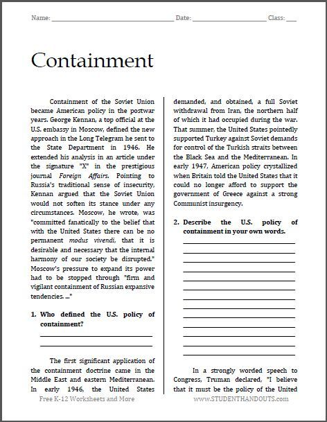 a report on the containment of communism Containment of communism essays: over 180,000 containment of communism essays, containment of communism term papers, containment of communism research paper, book reports 184 990 essays, term and research papers available for unlimited access.