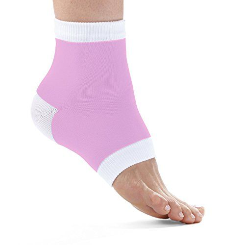 FitDio Therapeutic Cracked Heel Repairing Gel Socks, Light Pink, 3 Count