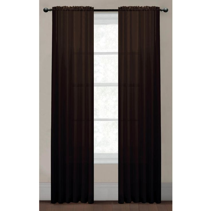 Solid Voile Sheer Rod Pocket Extra Wide Curtain Panel  Extra Wide Curtain Panels