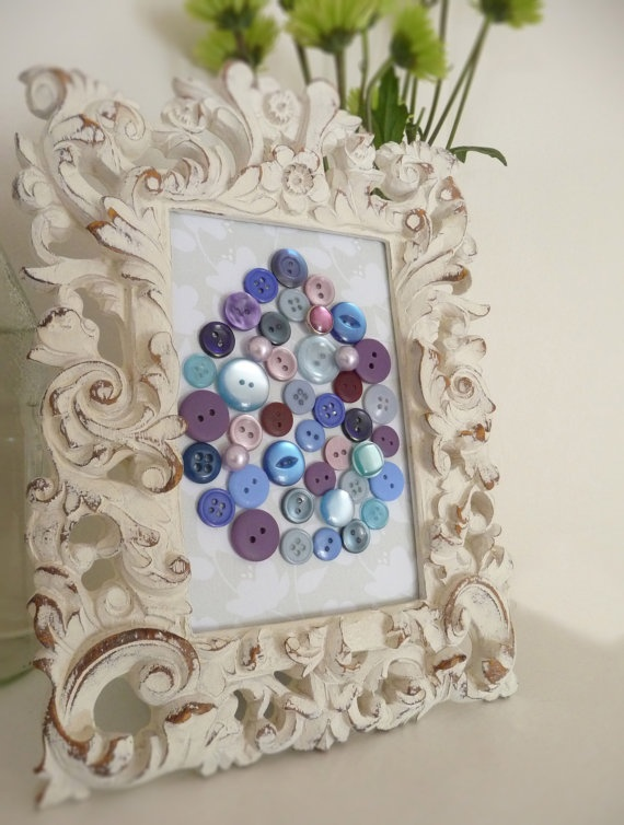 Button-Easter Egg Blue and Purple by TheWrightBoutique, $16.99