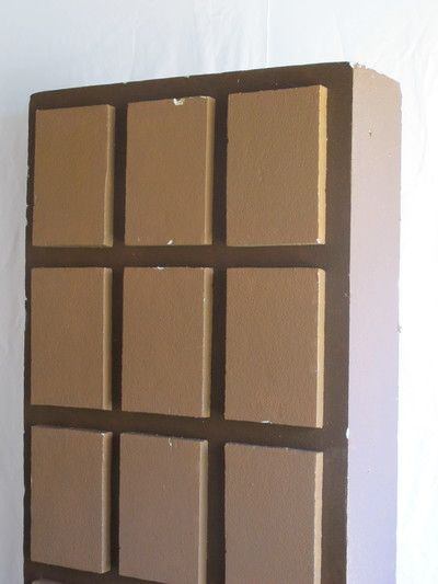 Giant chocolate slab. 2.2m high. Hardened polystyrene. R185 for 4 days.