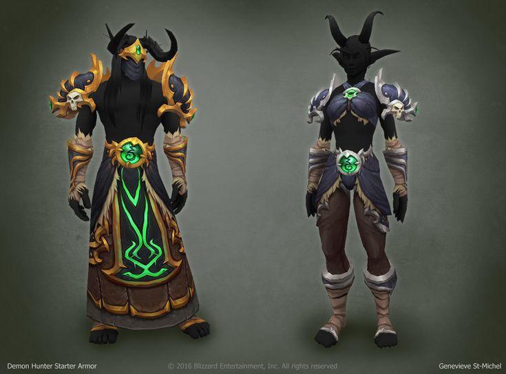ArtStation - Legion - Demon Hunter Starter Armor, Genevieve St-Michel