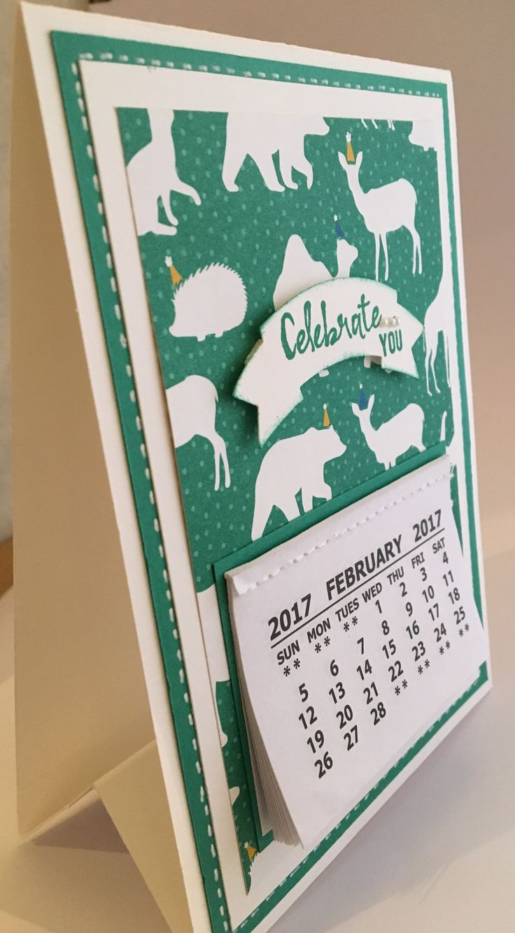 Blog Hop theme: Animal's. Used SU Party Animal DSP for this cute calendar.