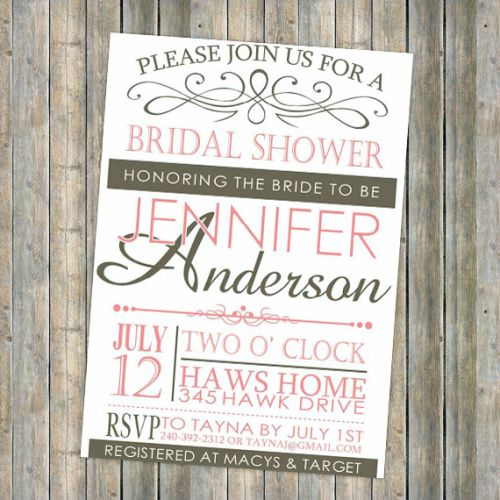 The 25 best Cheap bridal shower invitations ideas on Pinterest