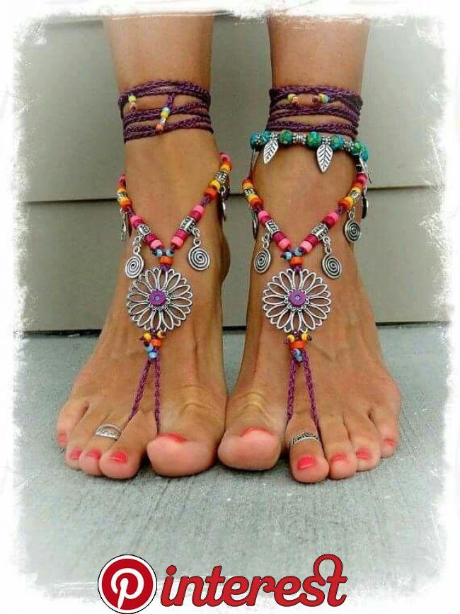 Schöne Frauen füsse. Für mich? | Häkeln barfuß sandalen