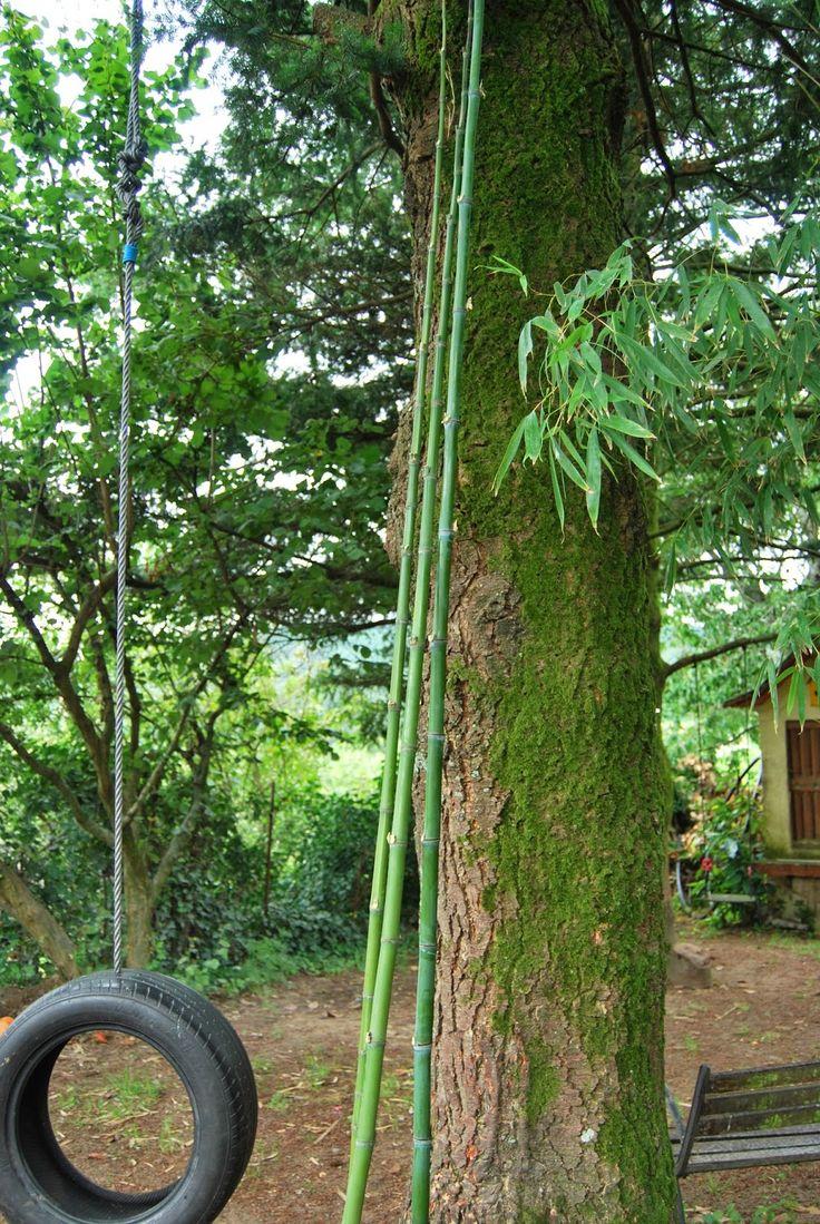 troncos rotuladores y chapas reto diy escalera de bamb que sirve de toallero