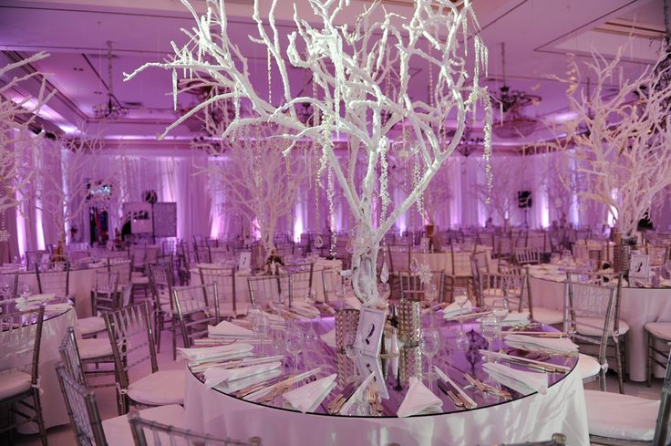 Centerpiece branches wood candle. White feathers