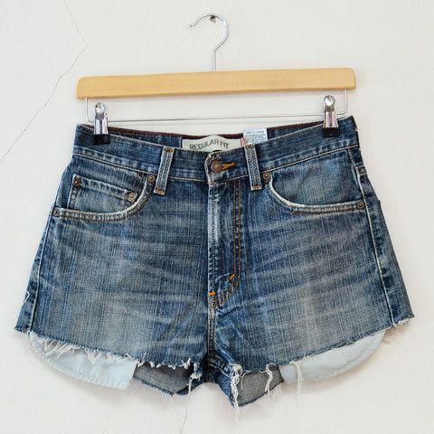 Reworked Blue Levis Shorts M. Levis 505, Vintage ...