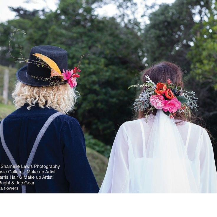 His and hers hair flowers. By febella flowers