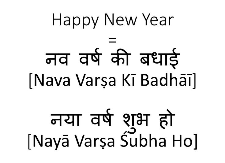 How to say Happy New Year in Hindi |