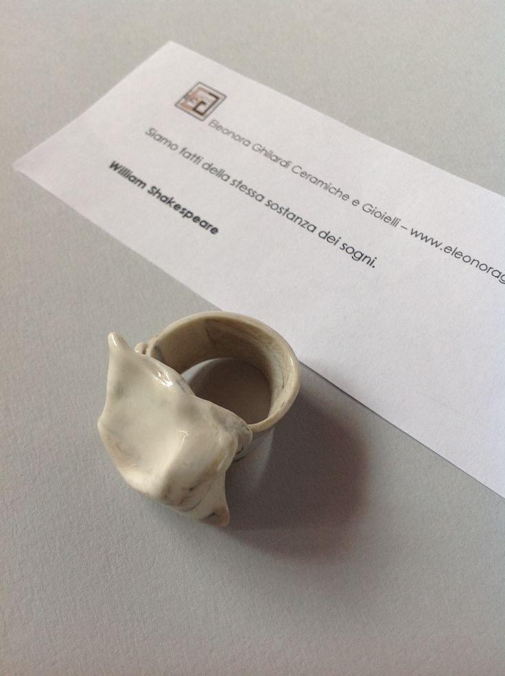 SWEET DREAMS  Anello  - porcellana  Ring - porcelain
