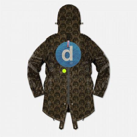 Мужская куртка парка Dupe Storm Hooded 3L Milo Walsh Brown/Old D Print