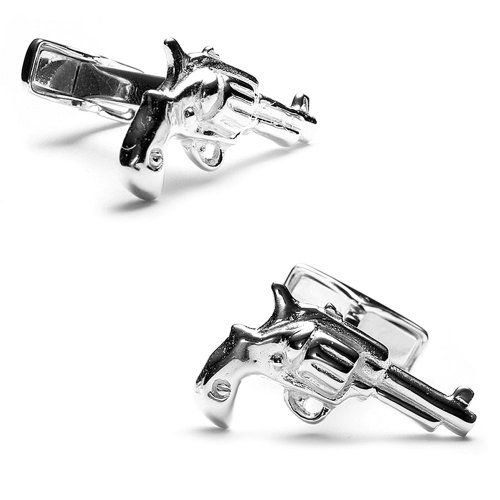 Ravi Ratan Mens Sterling Revolver Cufflinks Approximately 3/4 x 5/8. A stylish accompaniment to your favorite French cuff dress shirt. Made from Sterling Silver. Perfect as a holiday, anniversary, or birthday present!. Comes in a nicely packaged Gift Box!.  #Ravi_Ratan #Jewelry