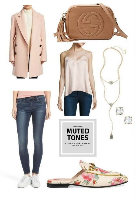 Muted tones like blush and tan are a great wintery neutral. Actually, these shades work all year. I love the Blush coat with the blush silk cami top and the tan Gucci bag. The floral loafers are a nice added touch. #blushpink #fashionblogger #style #fashoin #handbags #shopping #gifts #gucci #shoes #jewlery #winter #ShopStyle #ssCollective #MyShopStyle #ootd #getthelook #shopthelook