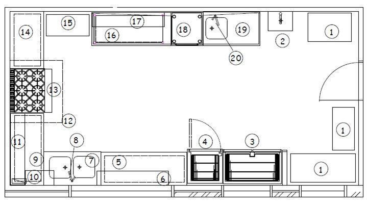 small commercial kitchen layout
