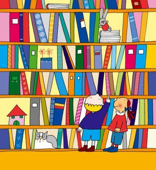 Choice in library / Elección en la biblioteca (ilustración de Nicoletta Costa)