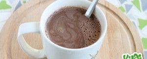 Lekkere gezonde warme chocolademelk