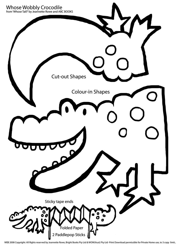 252 best printables images on pinterest - Crocodile Coloring Pages Print