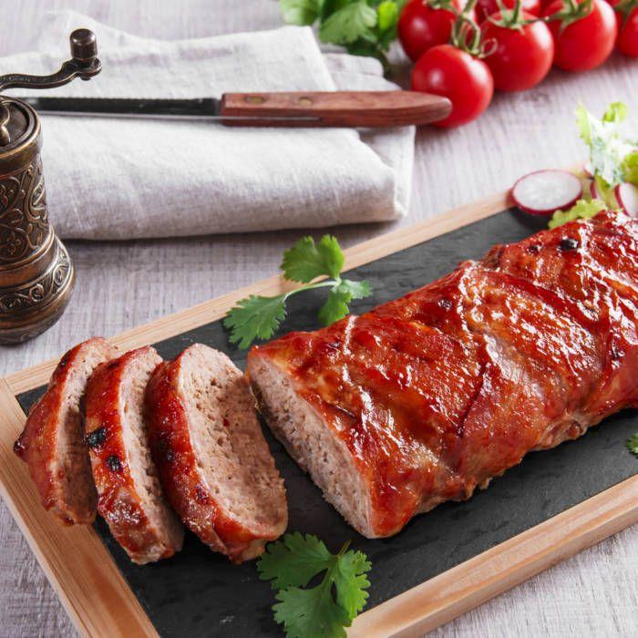 baconlindad köttfärslimpa med ost