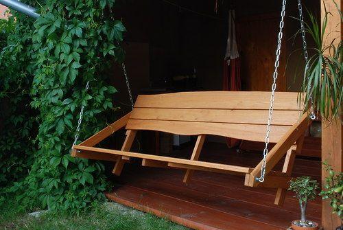 Houpací lavice z akátu, dlouhá - úžasný relax