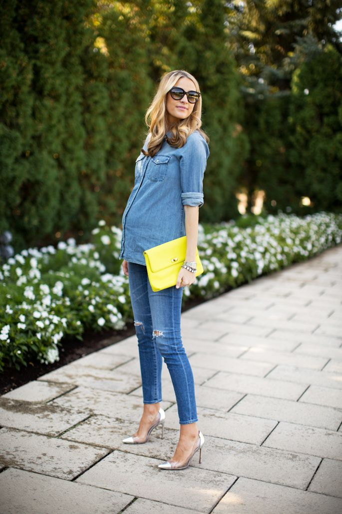 Jean with jean maternity fashion