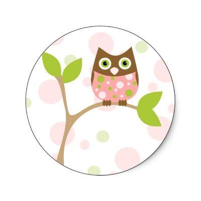 Cute baby owl sticker.