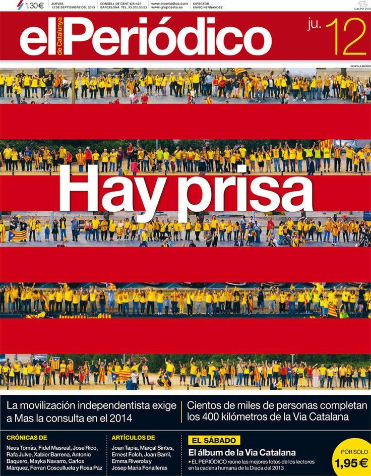 Los Titulares y Portadas de Noticias Destacadas Españolas del 12 de Septiembre de 2013 del Diario El Periódico ¿Que le pareció esta Portada de este Diario Español?