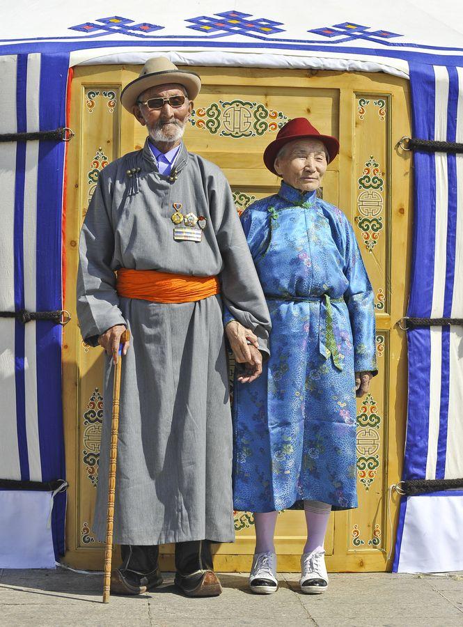 Elderly Couple from Mongolia