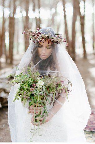 Длинная фата на свадьбу
