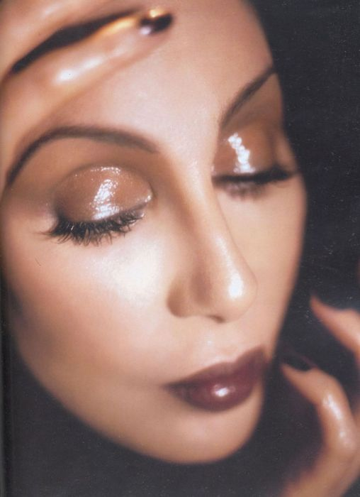 Cher...'70s Shimmery retro look