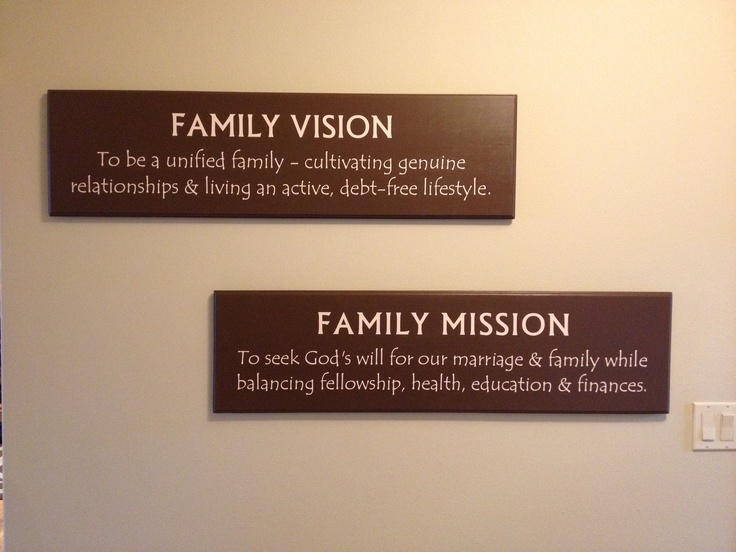 Best  Family Mission Statements Ideas Only On