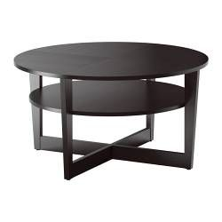 IKEA - VEJMON, Coffee table, black-brown, , Separate shelf for magazines, etc. helps you keep your things organized and the table top clear.The veneered surface is durable, stain resistant and easy to keep clean.