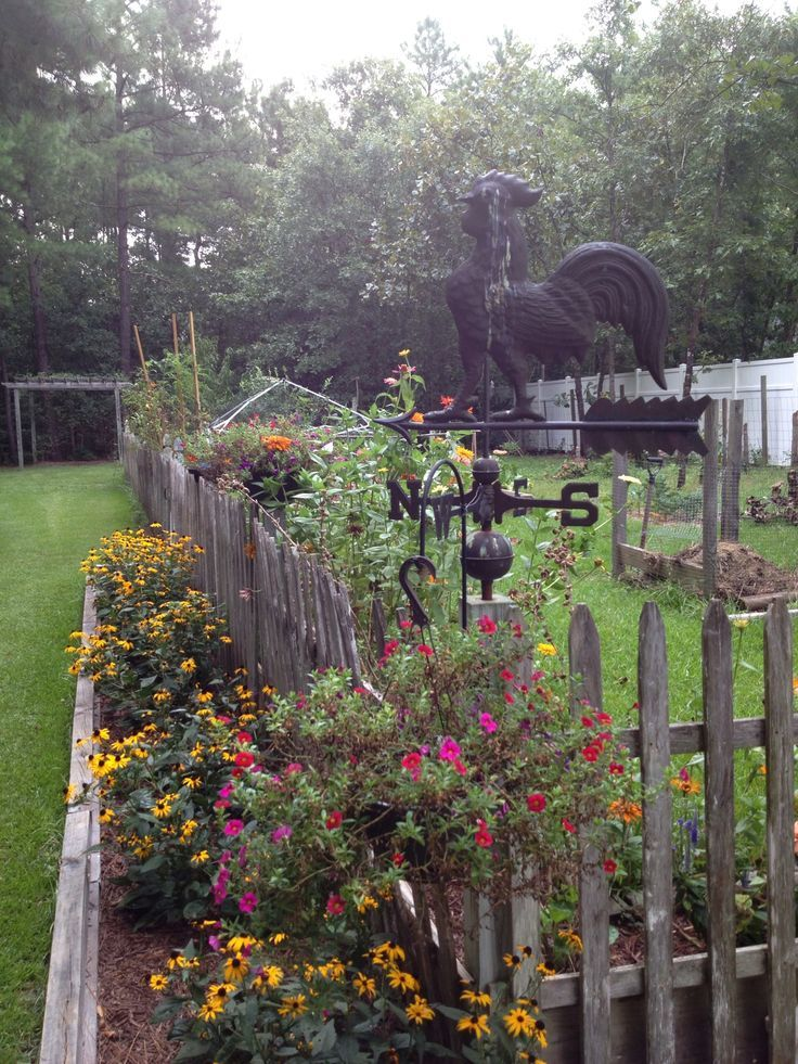 25 best ideas about country garden decorations on for Fence ornaments ideas