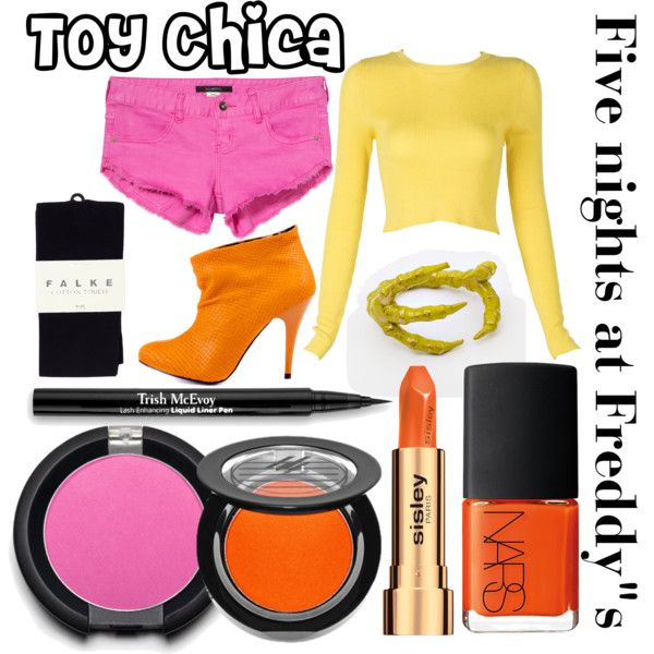 """Five nights at Freddy""s inspired outfits #11 Toy Chica"" by tortured-puppet on Polyvore"