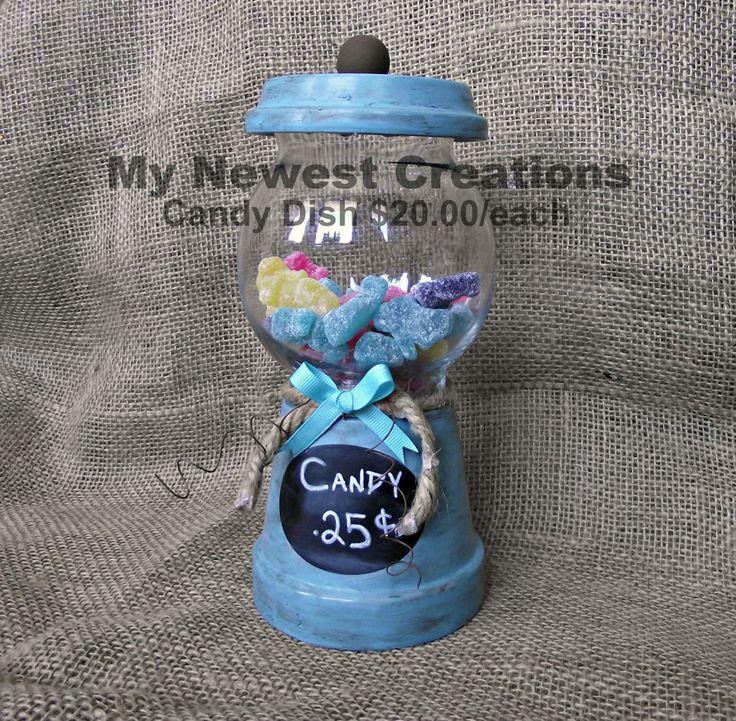 Terra Cotta Pot Candy Dish