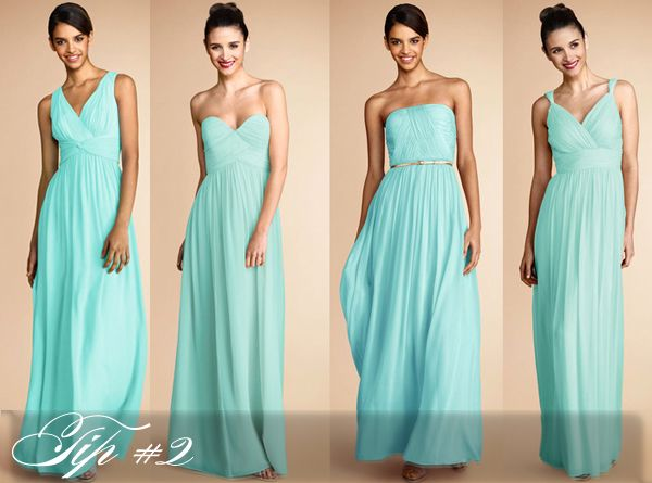 "Mismatched Bridesmaids: Tips to ""Get the Look"" from Weddington Way - The Details - Weddingstar Blog"