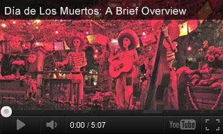 Video: Dia de los Muertos   This short educational video gives a brief overview of the origins of Day of the Dead and its traditions. It's paired with four classroom activities for grades 6-12.