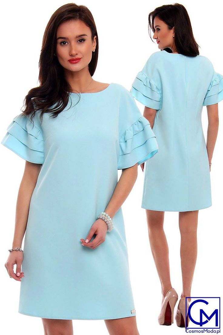 Klasyczny krój i ekstrawaganckie rękawy - to propozycja dla kobiet lubiących bawić się modą ;) (y) <3 Link do produktu: http://bit.ly/SukienkaCM479 Polub nas i zgarnij 10% RABATU ➡️ http://bit.ly/CM_RABAT Stylistka Sara <3
